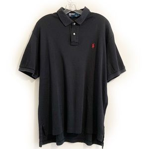Polo by Ralph Lauren Black Jersey Polo Shirt